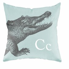 Crocodile Polyester Throw Pillow