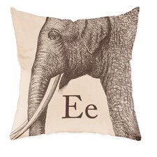 Elephant Poly Cotton Throw Pillow