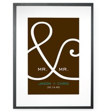 Personalized Mr. and Mr. Framed Textual Art