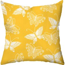 <strong>Checkerboard, Ltd</strong> Flutter Poly Cotton Throw Pillow