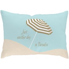 Sandy Footprints for 5 Poly Cotton Outdoor Throw Pillow