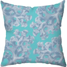 Coral Polyester Outdoor Throw Pillow