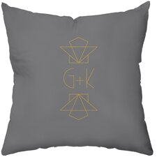 <strong>Checkerboard, Ltd</strong> Personalized Gilded Polyester Throw Pillow