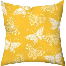 Flutter Poly Cotton Outdoor Throw Pillow