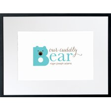 Personalized Cuddly Bear Wall Décor