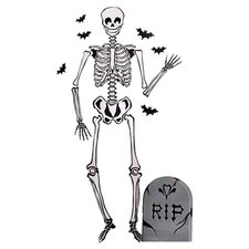 Skeleton Vinyl Holiday Wall Mural (Set of 2)