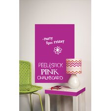 Peel & Stick Big Pink Chalkboard