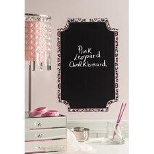 Peel & Stick Pink Leopard Chalkboard