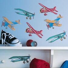<strong>Wallies</strong> Vintage Airplanes Wallpaper Cutouts