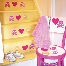 Candy Skulls Peel and Stick Vinyl Wall Decals (Set of 4)