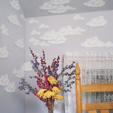 Large Clouds Wallpaper Cutout Wall Decals