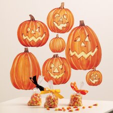 Jack O'Lanterns Vinyl Holiday Mural Peel and Stick