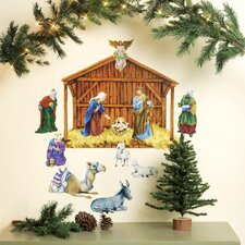 Nativity Vinyl Holiday Wall Mural (Set of 2)