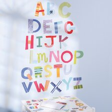 <strong>Wallies</strong> Alphabet Fun Interactive Vinyl Peel and Stick Wall Mural