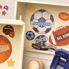 Sports Stamps Peel and Stick Vinyl Decals