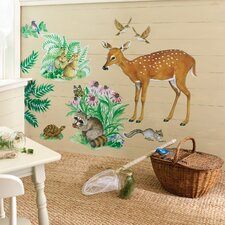 <strong>Wallies</strong> Woodland Animals Wallpaper Mural