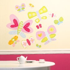 Jenny's Butterflies Wallpaper Mural (Set of 2)