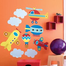 Up, Up and Away Wallpaper Mural (Set of 2)