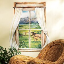 Grazing Pastures Window Wallpaper Mural