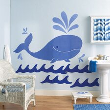 Whimsical Whale Wallpaper Mural (Set of 3)