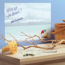 At The Beach Dry Erase - 2 Sheet Vinyl Peel and Stick
