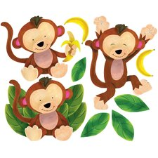 Baby Monkeys Wall Stickers (Set of 2)
