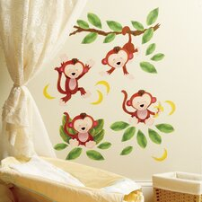 Baby Monkeys Peel and Stick Wall Stickers