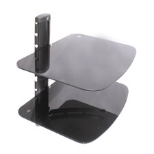 Two Shelf AV Component Wall Mount in Black