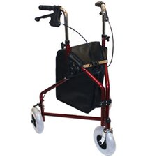 3 Wheeled Aluminum Rollator with Pouch
