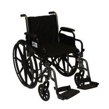 """Easy Glide Adjustable 20"""" Lightweight Wheelchair"""