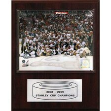 NHL Penguins 2008-09 Stanley Cup Celebration Champions Plaque