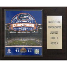NCAA Football Florida 2006 Gators Champions Plaque