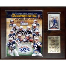 NFL Patriots Super Bowl XXXIX Champions Plaque