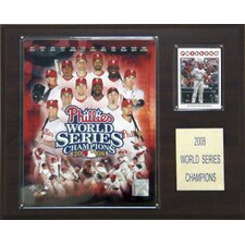 MLB Phillies 2008 World Series Champions Plaque