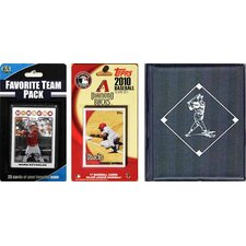 MLB Licensed 2010 Topps Team Set and Favorite Player Trading Cards Plus Storage Album