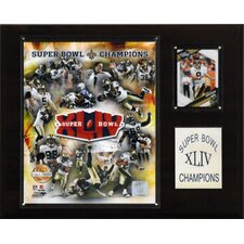 NFL Saints Super Bowl XLIV Limited Edition Champions Plaque