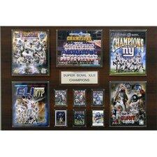 NFL New York Giants Super Bowl XLII Champions Plaque