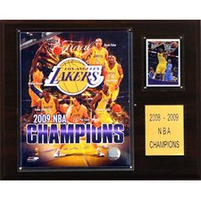 NBA 2009 Los Angeles Lakers Champions Plaque