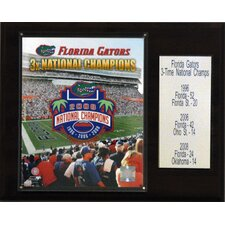 NCAA Football Florida Gators Champions Plaque