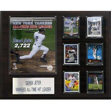MLB New York Yankees Derek Jeter Hit Leader Player Plaque