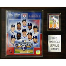 MLB Texas Rangers 2010 American League Championship Plaque