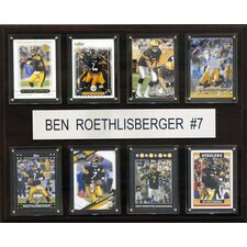NFL Pittsburgh Steelers 8 Card Ben Roethlisberger Plaque