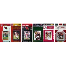 NFL 6 Different Licensed Trading Card Team Set
