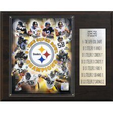 NFL Steelers 6 Time Super Bowl Champions Plaque