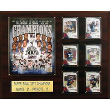 NFL New York Giants Super Bowl XLVI Champions Plaque