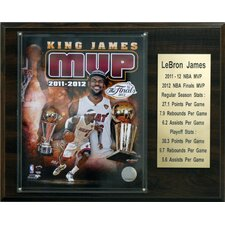 NBA LeBron James Miami Heat 2011-12 MVP Plaque