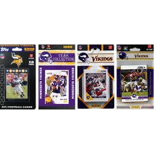 NFL Different Licensed Team Trading Cards (Set of 4)