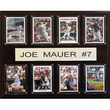 MLB Joe Mauer Minnesota Twins 8 Card Plaque