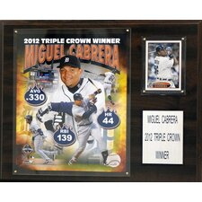 MLB Miguel Cabrera 2012 MVP Detroit Tigers Player Framed Memorabilia Plaque