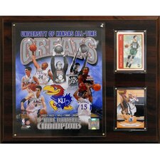 NCAA Basketball University of Kansas All-Time Great Photo Framed Memorabilia Plaque